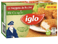 Top Iglo Nuggets Blé Complet